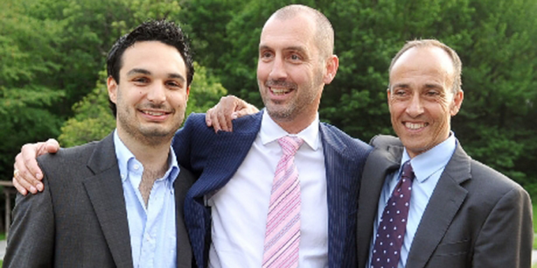 Nicola Pini, Michele Morisoli e il Presidente Rocco Cattaneo (fonte: Ti-Press)